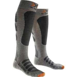 X-Socks Silk Merino Ski Hommes - Gris / Anthracite