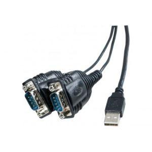 Abix 040342 - Convertisseur USB série RS232 prolific 2 ports DB9