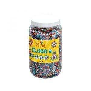 Hama Pot de 13000 moyennes perles bicolores