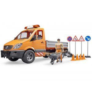 Bruder Toys Bruder - Camion municipal MB orange avec module son et lumière