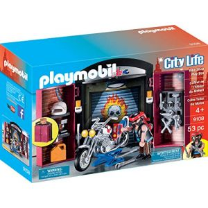 Playmobil Coffre magasin moto - City Life - 9108