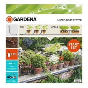 Gardena 13004-26 - Kit d'irrigation Micro-Drip system pour 15 pots avec programmateur