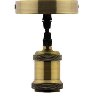 Image de Conforama Kitsuspension luminaire métal avec cordon textile Cuivre - ELEXITY