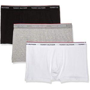 Tommy Hilfiger 3P Trunk Boxer, Noir (Black/Grey Heather/White 004), Medium (Taille Fabricant: M) (Lot de 3) Homme