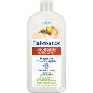 Natessance Shampooing Nourrissant Argan Bio et Kératine Végétale - 500 ml