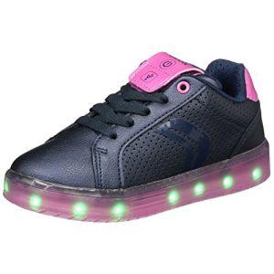 Geox J Kommodor A, Sneakers Basses Fille, Bleu (Navy/Fuchsia), 38 EU