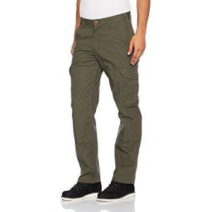 Carhartt Ripstop Cargo Work Jeans/Pantalons Vert foncé 36