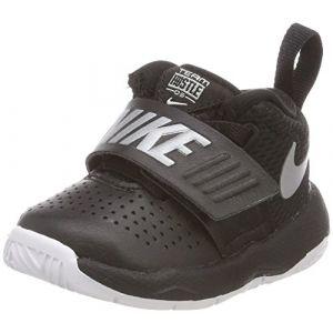 Nike Team Hustle D 8 (TD), Chaussures de Basketball Mixte Enfant, Noir (Black/Metallic Silver-White 001), 23.5 EU