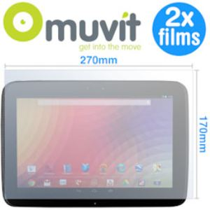 Muvit MUSCP0341 - Pack 2 Films de protection universel pour Tablette