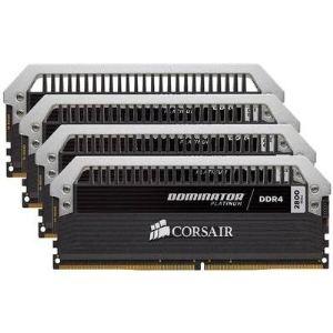 Image de Corsair CMD16GX4M4A2666C15 - Barrette mémoire Dominator Platinum 16 Go (4x 4 Go) DDR4 2666 MHz CL15