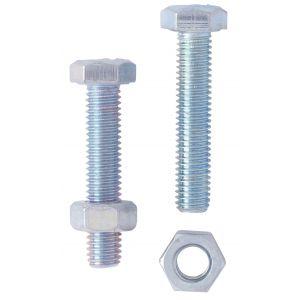 VisWood Boulon hexagonal zingué - Ø 12 mm - 30 mm - Filetage partiel 22 mm - Boîte de 100