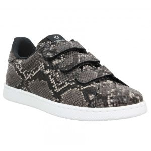 Victoria Chaussures 12524 velcro python Femme Anthracite Gris - Taille 36