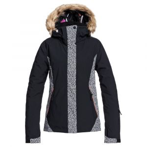 Roxy Jet Ski-Veste de Snow pour Femme, True Black Pop Animal, FR : M (Taille Fabricant : M)