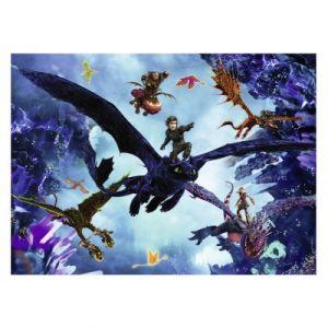 Nathan Puzzle 60 pièces : Dragons 3 : L'équipe des Dragons