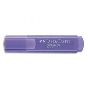 Faber-Castell Surligneurs Textliner 1546 - pointe feutre biseautée - coloris pastel lilas