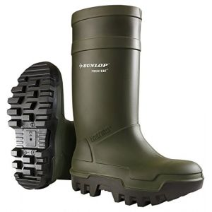 Dunlop Vert Purofort Thermo Full sécurité Botte - C662933 (EU 48 | UK 13 | US 15)