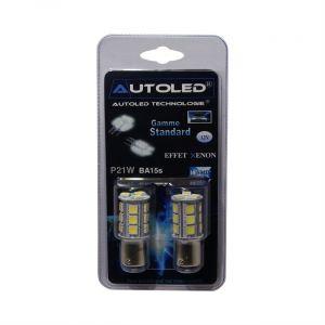 LG 2 Ampoules 18 LEDS AUTOLED P21W-BA15S Blanc