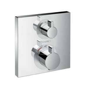 Hansgrohe Ecostat Square Façade pour mitigeur thermostatique pour 2 sorties chrome