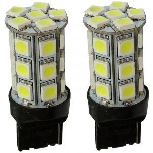 Aerzetix 2x ampoule 12V T20 7440 W21W W3x16D 24LED SMD blanc effet xénon