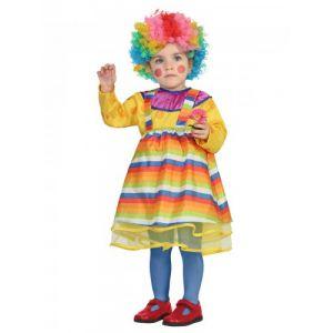 Atosa Déguisement clown multicolore bébé 6 à 12 mois