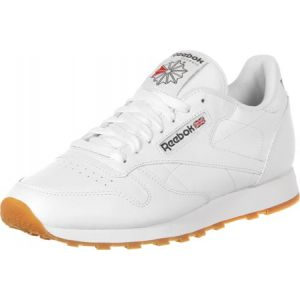 Reebok Classic Leather, Sneakers Basses Homme - Blanc (White/Gum) - 44 EU (Taille Fabricant : 9.5 UK)