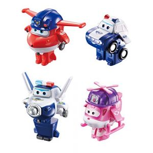 Auldey Pack de 4 figurines transformables Super Wings