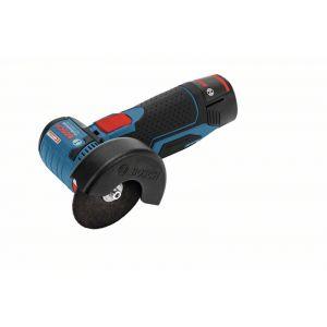 Bosch Professional GWS 10,8-76 V-EC avec 2 batteries à 2,5 Ah Li-Ion et L-BOXX - Meuleuse angulaire sans fil