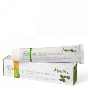Melvita Dentifrice Haleine fraîche Arôme bio de Menthe 75 ml