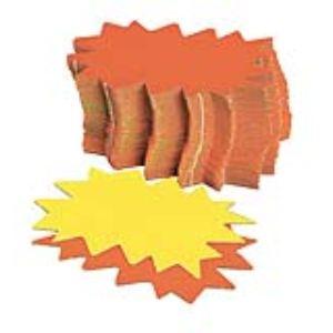 Agipa 50 étiquettes pour point de vente en carton fluo 12 x 8 cm