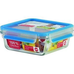 Emsa 513919 - Boîte alimentaire carré en verre (95 cl)