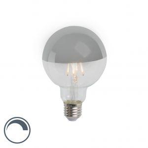 Calex Ampoule globe à tête miroir argentéee LED filament 4W (remplace 40W) E27 95mm