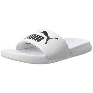 Puma Popcat, Chaussures de Cross Mixte Adulte, Blanc White Black, 46 EU