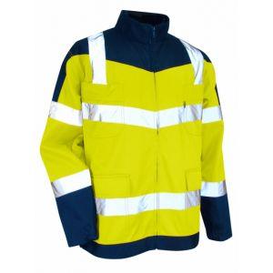 LMA Blouson haute visibilité jaune / bleu sans metal precaution