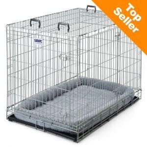 Savic Dog Residence Cage de transport et d'intérieur avec coussin pour chien l71xP107xH81cm