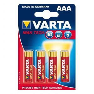 Varta Max Tech 04703 - Batterie 4 x AAA