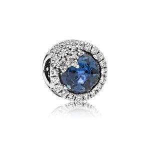 Pandora Charm Flocon de Neige Éblouissant Bleu