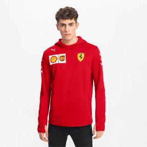 Puma Blouson à Capuche Ferrari Team Tech Fleece pour Homme Rosso Corsa S