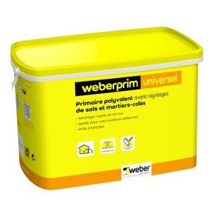 Weber Primaire polyvalent sablé à séchage rapide PRIM UNIVERSEL - Seau de 5 kg SAINT-GOBAIN
