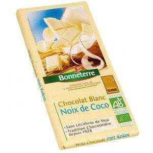 Bonneterre Chocolat blanc à la noix de coco bio - 100 g