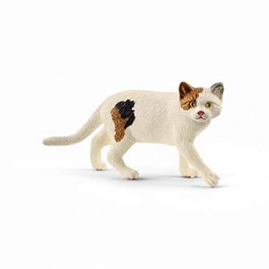 Schleich Chat Américain Shorthair Farm World Figurine, 13894, Multicolore