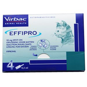 Virbac Effipro Spot-On Chats Contenances : 4 pipettes