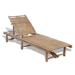 VidaXL Bain de soleil ajustable en bambou