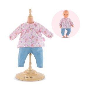 Corolle Vêtements pour poupée mon grand poupon 42 cm : Blouse et pantalon