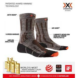 X-Socks Trek X Linen EU 42-44 Suede Melange / X-Orange / Black - Suede Melange / X-Orange / Black - Taille EU 42-44