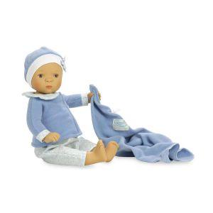 Petitcollin Poupée Bibichou de 35 cm : Rafaël dans son petit lit par Sylvia Natterer