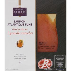 Monoprix gourmet Saumon Atlantique, fumé et élevé en Ecosse - Les 2 tranches, 80g