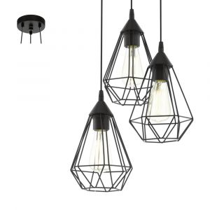 Eglo Lampe pendante noire Tarbes