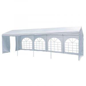 Tente de réception Luxe blanche 4 x 8 m