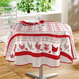08f07457c79baf Nappe ronde toile ciree rouge - Comparer 19 offres
