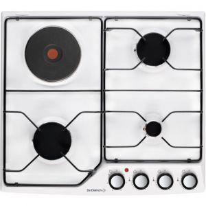 De Dietrich DPE7610WM - Table de cuisson mixte (gaz et électrique) 4 foyers
